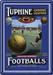 Blechpostkarte Footballs