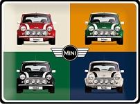 Mini Cooper - 4 Cars Blechschild