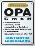 Funschild Firma Opa GmbH