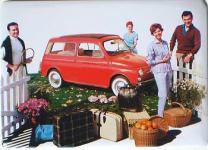 Fiat 500 Familie Blechschild