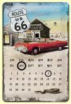 Route 66 Mother Road Kalender Blechschild