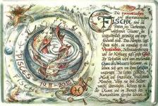 Sternzeichen Fische Blechschild