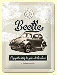 VW Retro Beetle Blechschild, 15 x 20 cm