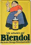Blechpostkarte Blendol