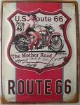 Route 66 - The Mother Road Blechschild, 30 x 40 cm