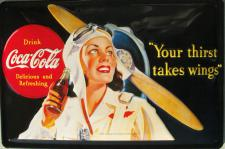 Coca Cola Your thirst takes wings Blechschild