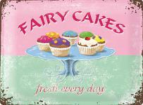 Fairy Cakes Blechschild, 20 x 15 cm