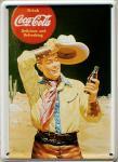 Coca Cola Cowboy Mini Blechschild