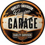 Harley-Davidson Garage Wanduhr (Echtglas)