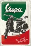 Vespa - The Italian Classic Blechschild