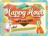 Happy Hour Blechschild