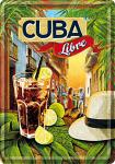 Blechpostkarte Cuba Libre