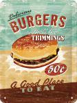 Burgers Blechschild, 15 x 20 cm