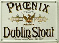 Phoenix Dublin Stout Mini Blechschild