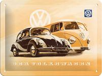 VW der Volkswagen Blechschild, 20 x 15 cm