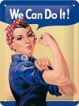 We Can Do It Blechschild, 15 x 20 cm