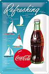 Coca-Cola Sailing Boats Blechschild
