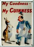 Guinness Känguruh Mini Blechschild