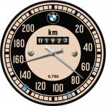 BMW - Tachometer Wanduhr (Echtglas)