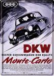 Blechpostkarte DKW - Monte Carlo