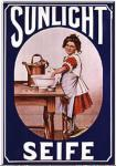 Sunlicht - Wäscherin Blechschild