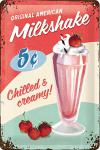 Milkshake Blechschild