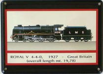 Dampflok - Royal 1927 Mini Blechschild