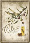 Blechpostkarte Olive Italiane