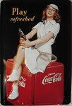 Coca Cola - Play refreshed Blechschild