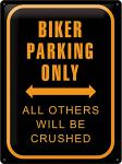 Biker Parking Only Blechschild