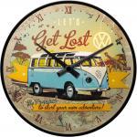 VW - Get Lost Wanduhr (Echtglas)