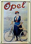 Opel Fahrrad Mini Blechschild