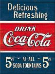 Magnet Coca-Cola - Delicious refreshing blue