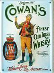 Cowan's Whisky Mini Blechschild