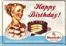 Blechpostkarte Happy Birthday