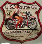 Route 66 - The Mother Road Blechschild