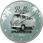 VW - Retro Bulli Wanduhr (Echtglas)