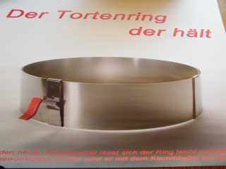Tortenring Universal mit Klemmhebel - Vorschau