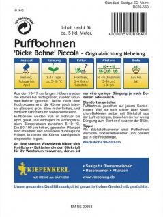 Puffbohnen Grosse Bohnen Piccola grünkernig - Vorschau 2