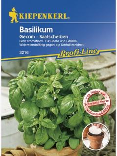 Basilikum Gecom Typ Grosses Grünes tolerant Saatscheiben