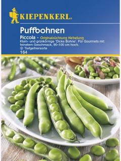 Puffbohnen Perla, Wohlschmeckende sehr feine Dicke Bohne