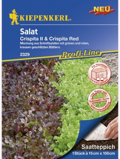 Saatteppich Salat Crispita II, Crispita Red (LS16037) (15cm x 150cm)