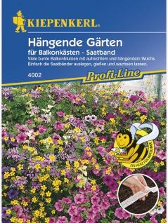 Blumenmischung, Hängende Gärten, für Balkonkästen, Saatband 5mtr , Grundpreis: 0.60 € pro 1 m