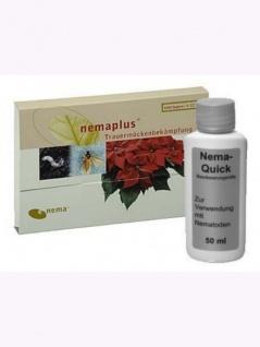 NemaPlus SF (25 Mio für 20qm) + Nema-Quick (50 ml) Kombi-Packung SF Nematoden zur Bekämpfung von Trauermücken