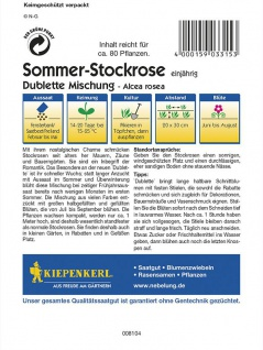 Alcea rosea Stockrosen Dublette Mischung - Vorschau 2