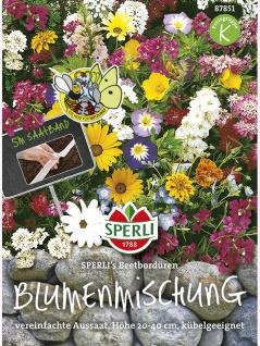 Blumenmischung Beeteinfassung Bordüren Saatband 5mtr , Grundpreis: 0.92 € pro 1 m