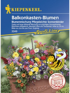 Blumenmischung Balkonkastenblumen pflegeleichte Sonnenkinder Mischung