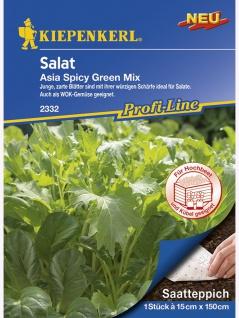 Saatteppich Salat Asia Spicy Green Mix (15cm x 150cm)