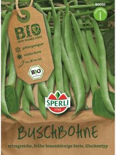 Buschbohne grün Gluckentyp BIO