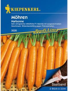 Möhren Gemüse Samen Möhrensortiment Saatband mit 3 leckeren Karotten Sorten
